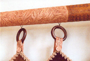 Leather covered curtain rod #2.